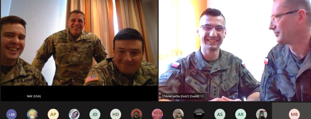 Lekcje zdalne nie muszą być nudne cz. III – spotkanie z żołnierzami Stanów Zjednoczonych